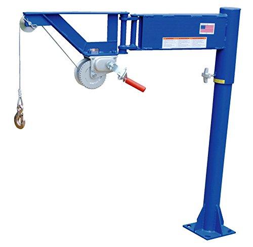 Vestil VAN-J Van Mount Manual Jib Lifter, Steel, 400 lb. Capacity, 10' Cable Length, 46-1/16' Height