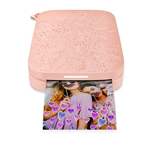 HP Sprocket Portable Photo Printer (2nd Edition) – Instantly Print 2x3 Sticky-Backed Photos from Your Phone – [Blush] [1AS89A], Small, Model:1AS89A#B1H