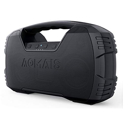 Portable Waterproof Bluetooth Speaker, AOMAIS 40-Hour Playtime Wireless Outdoor Speakers, 25W Rich Bass Impressive Sound, Stereo Pairing, Built-in Mic, 100ft Bluetooth for Home Party (NO LED Lights)