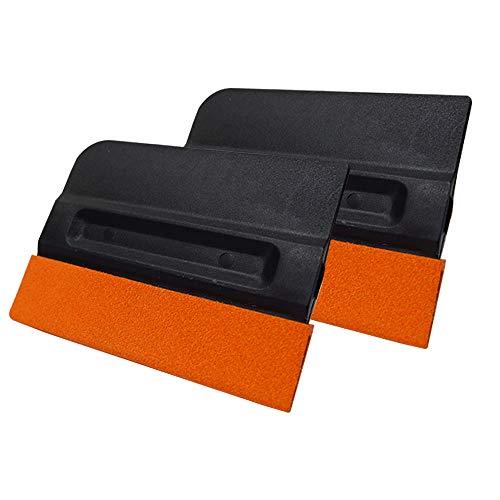 2 Pack Auto Rakel Filzrakel Folierungs Werkzeug mit Buffer Filz für Autofolien Tönungsfolie Fensterfolien Lackschutzfolie