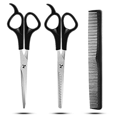 Hair Cutting Scissors Set, RegeMoudal 3 Pcs Sta...