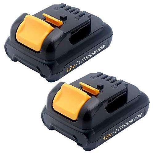 ADVNOVO 2 Pack DCB120 12V 3000mAh Max Lithium Battery Replacement for Dewalt 12V Cordless Power Tools Battery DCB123 DCB127 DCB122 DCB121 DCB124