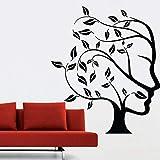 Tianpengyuanshuai Resumen Cara Pegatinas de Pared árbol niños Dormitorio Sala hogar extraíble Papel Tapiz 85X93cm