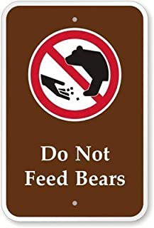 Lilyanaen New Metal Sign Aluminum Sign Do Not Feed Bears (Graphic) Sign for Outdoor & Indoor 12
