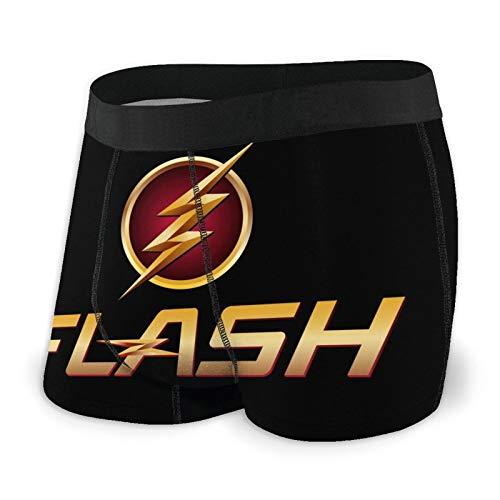 Flash People Herren Boxershorts Short Yiriem Sport Unterwäsche für Männer Gr. L, Schwarz