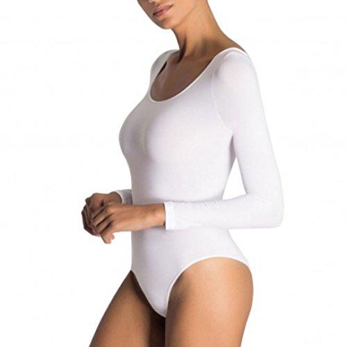 CHERIE - Body Mujer Marie Claire Manga Larga Mujer Color: Blanco Talla: Medium