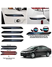 BUY HAPPYAMMY SHOP Rubber Car Bumper Protector Guard with Double Chrome Strip for Car 4Pcs - Black (for Honda City I-VTECH)