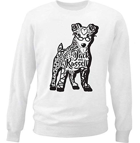 teesquare1st Men's Jack Russell b White Sweatshirt Size XXLarge