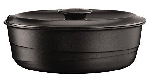 Tefal L8563204 Ingenio Flavour stoofpan + deksel, gegoten aluminium, zwart, 24 cm, geschikt voor alle warmtebronnen, ook inductie