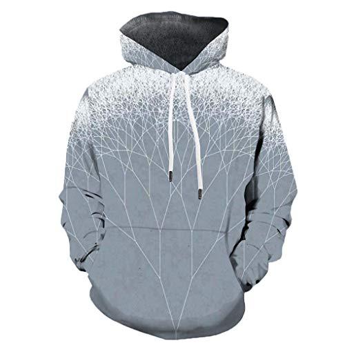 Jerinumkoy Men Stra?e Hoody 3D Printed Lustige Kapuze Beil?ufige Sweatshirt gedruckt Lange H¨¹lsehoodies WY2234 5XL