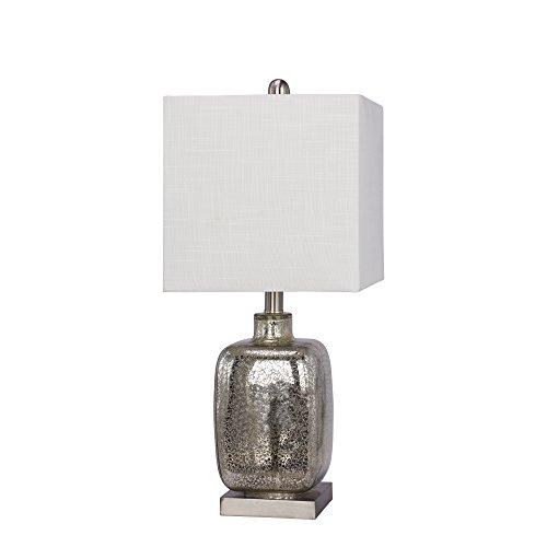Fangio Lighting 5111 - Lámpara de mesa (cristal y metal, 22 pulgadas), color plateado