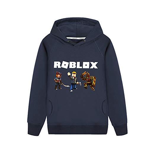 NINIUBAL Roblox Pullover Impreso Acogedor con Capucha suéter clásico suéter Casual Moda...