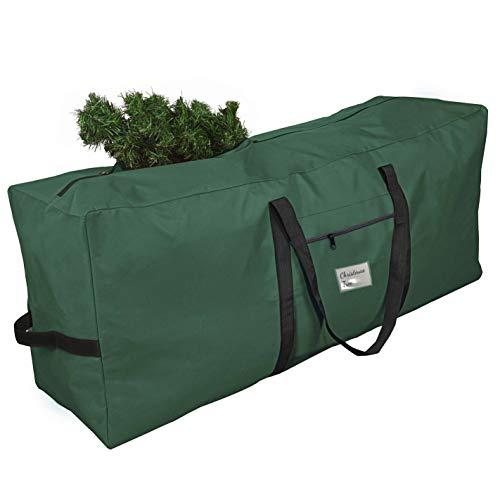 Ferocity Weihnachtsbaum Aufbewahrungstasche 125 cm Weihnachtsbaumtasche Transporthülle Weihnachtsbäume Tannenbaum Aufbewahrung Tasche - Rechteck Grün [125]
