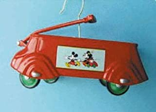1937 Mickey Mouse Streamline Express Coaster Wagon Sidewalk Cruisers 6th in Series 2002 Easter Hallmark Ornament QEO8516