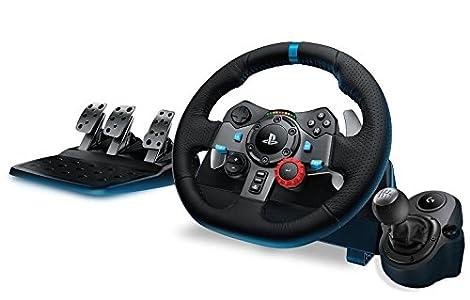 Logitech G29 - Volante De Simulación De Carreras + Palanca de cambios (PS4, PS3 y PC)