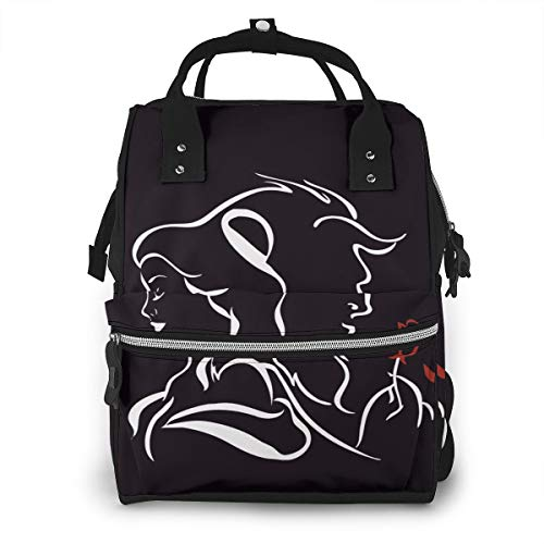 Diaper Bag Backpack Beauty Within The Beast Multifunction Large Capacity Travel Back Pack Baby Nappy Bags Organizer Waterproof and Durable