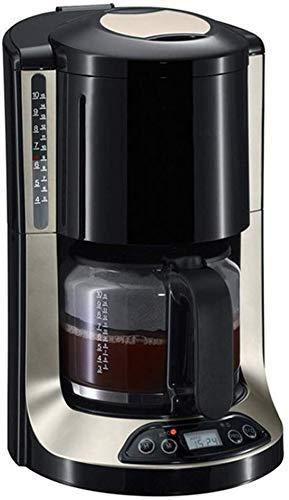 Busirsiz Cafetera, Máquina de café de filtro 10 de la Copa programables cafetera con temporizador Mantener caliente de apagado automático Función anti goteo Sistema, reutilizable Filtro Permanente 1,2