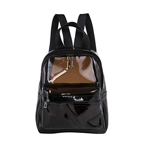 TENDYCOCO Backpack Translucent Waterproof PVC Mini Jelly Satchel Shoulders Bag Travel Daypack for Women Girls