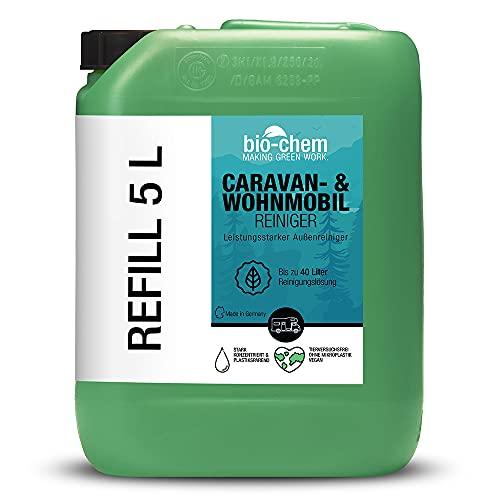 Bio-Chem Caravan- und Wohnmobil-Reiniger 5 Liter Konzentrat für Wohnmobile Wohnwagen Vorzelte Regenstreifenentferner