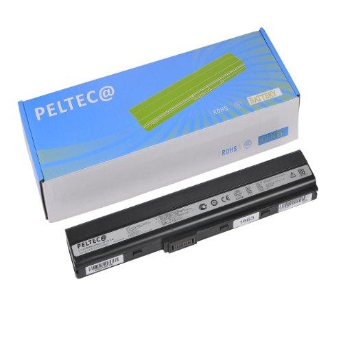 PELTEC@ Batterie de rechange pour ordinateur portable ASUS A31-K42, A32-K42, A31-K52, A32-K52, A41-K52, A42-K52, 70-NXM1B2200, Asus A40J A42 A52 A62 B53F85 F86 K42 K52 K62 N82 P42 P52 P62 P82 Serie, Asus Pro51 Pro5L Pro67 Pro8C X42 X52 X51 X67 X8C A31-K42, A32-K42, 4400 mAh