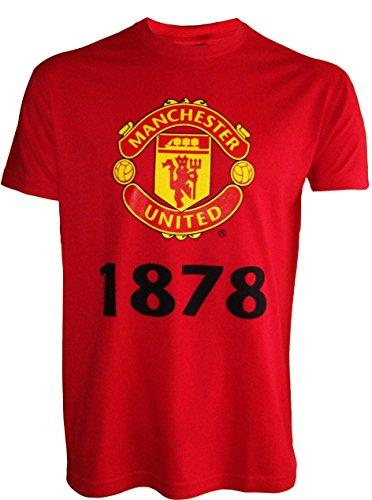 Manchester United T-Shirt, offizielle Kollektion, Erwachsenengröße, Herren - XL