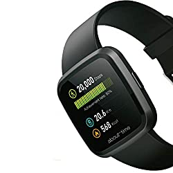 AboutTime SmartWatch Bluetooth Smart Watch, Long Battery IP67 Waterproof Sleep Monitor Message/Call Reminder All-in-One Bracelet for Android & iOS Apple iPhone/Samsung Galaxy/Huawei/Xiaomi, Black