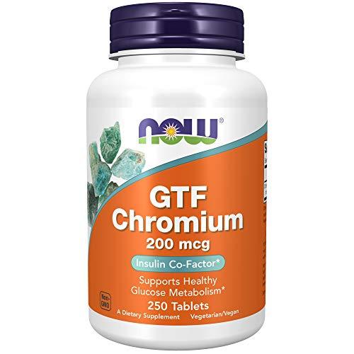 NOW Supplements, GTF (Glucose Tolerance Factor) Chromium 200 mcg, 250 Tablets