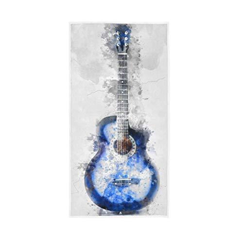 DJNGN Toalla de Mano Guitarra Abstracta 40X70 Cm Toalla Facial de Secado rápido para baño Gimnasio Natación SPA
