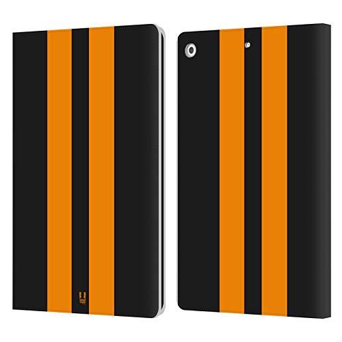 Head Case Designs Schwarzer Rennenwagen Transportmittel Farbig Leder Brieftaschen Handyhülle Hülle Huelle kompatibel mit Apple iPad 10.2 (2019)/(2020)