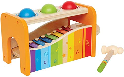 Hape Pound & Tap Bench with Slide Out Xylophone - Award Winning Durable Wooden...