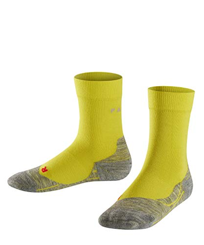 FALKE Unisex Kinder Laufsocken RU4, Baumwolle, 1 Paar, Gelb (Sulfur 1084), 35-38 (9-12 Jahre)