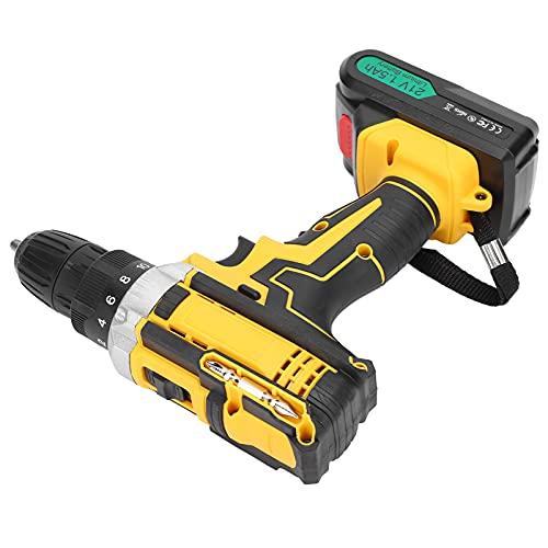 Destornillador eléctrico, taladro eléctrico de litio con capacidad de torsión de hasta 38 Nm El taladro eléctrico es pequeño y ligero para metal para taladrar madera(transparency)
