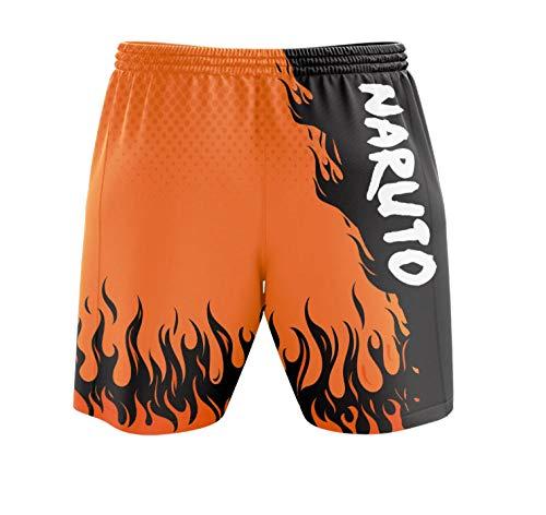 Anime Naruto Colleges Printed 3D Bleach Shorts Cosplay Hombres Natación Troncos de Secado rápido Casual Short Running Gym Shorts-A1_SG