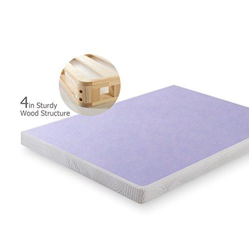 Zinus Edgar 4 Inch Low Profile Wood Box Spring / Mattress Foundation, Full