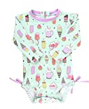 RuffleButts Baby/Toddler Girls Anything is Possible One Piece Rash Guard - 0-3m