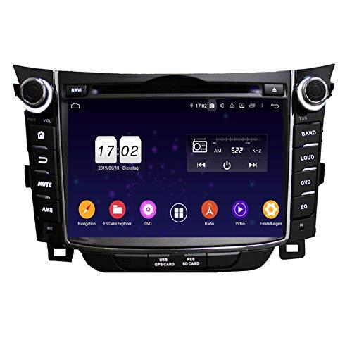 Android 9.0 Pie Auto Radio für Hyundai Elantra GT/I30(2011-2018), 4 GB RAM+32 GB ROM, 7 Zoll Touchscreen DVD Player Bluetooth Radio GPS Navigationssystem Haupteinheit