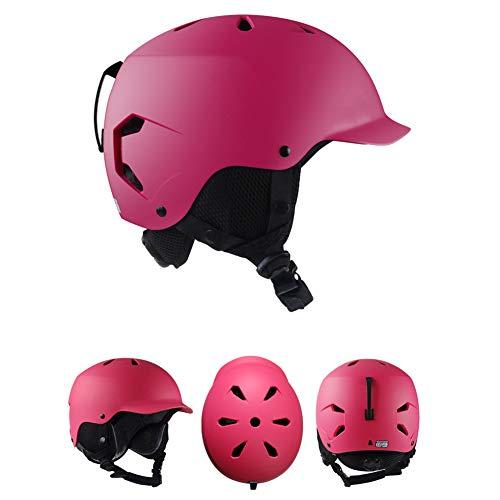HWZHX Skihelm voor volwassenen, voor mannen en vrouwen, model warme en comfortabele ademende fineer, dubbele plank, lichte veiligheidsbescherming, ijs en sneeuwsportuitrusting