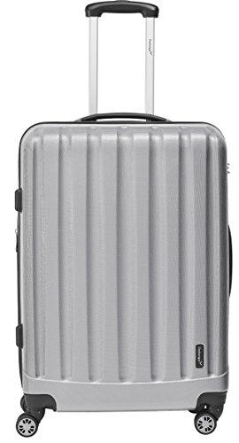 Packenger Hartschalenkoffer Velvet (XL), Silber, TSA-Schloss, 74x21x32cm