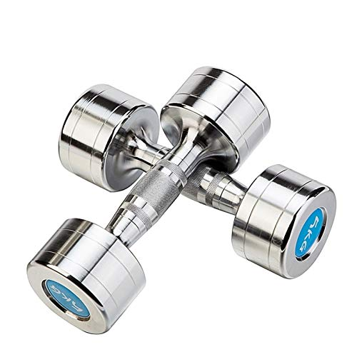 YQCH Dumbbells Set a Coppia in Acciaio Dumbbell Total Peso 12kg / 16kg / 18 kg per Palestra Home...