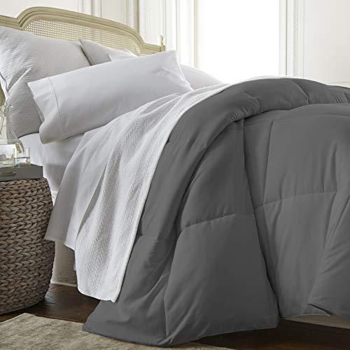 Simply Soft Edredón para Todas Las Temporadas, Alternativa al plumón, Contemporáneo, Gris, King/California King, 1, 1