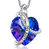 Gifts for Wife I Love You Heart Necklaces for Women, Christmas Anniversary Birthday Gifts for Her Girlfriend