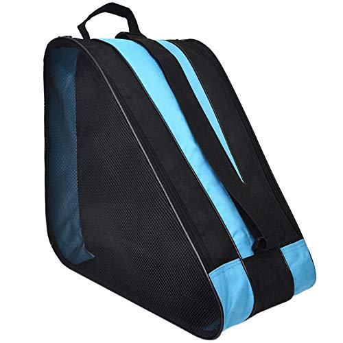 YOFASEN Oxford-Stoff Schlittschuhe Tasche - Atmungsaktives Design Skischuhtasche zum Rollschuhen Inlineskates für Kinder, Blau, 39 * 20 * 38cm