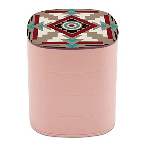 Boîte à bijoux ronde, 4 niveaux de rotation à 360 degrés pour bagues, boucles d