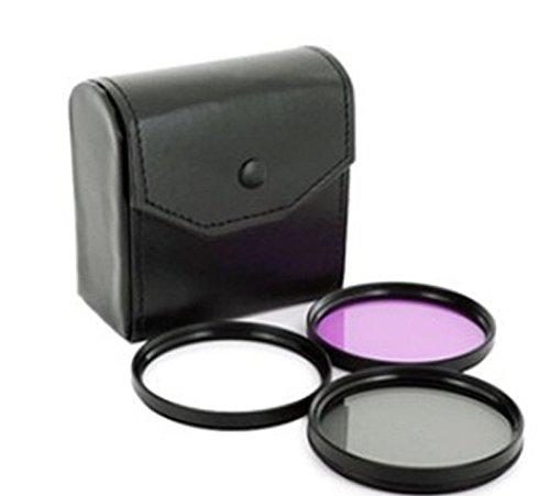 Fuer Panasonic Lumix FZ300 - LOOKit Objektiv Filterset 52 inkl. UV Filter + CPL Filter + FLD Filter + Schutztasche und für Nikon AF-S DX Nikkor 55-200 mm