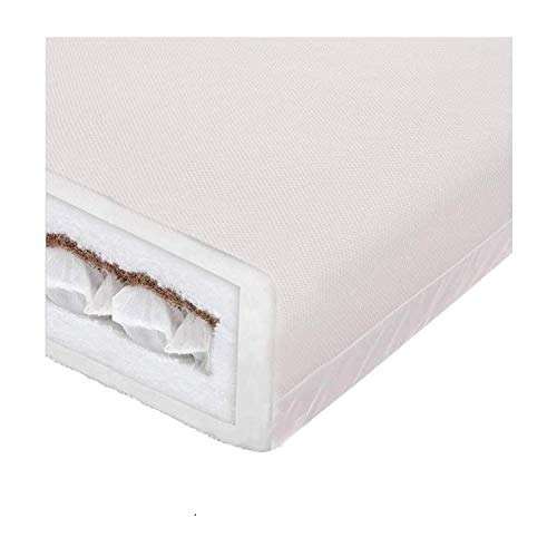 Tranquilo Bebe Cot Bed DualTech Moisture Management Pocket Sprung Mattress - 120x60cm