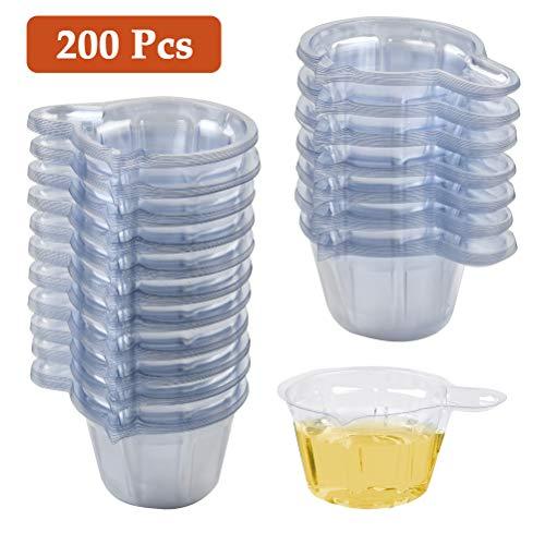 JAOMON 200 Stück Urinbecher Urinprobenbecher aus Kunststoff 30ml Einweg -Urinprobenbecher Urin Sammelbecher für den EisprungtestSchwangerschaftstestpH-Testmedizinischen Testtest usw.
