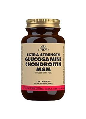 Solgar Extra Strength MSM Glucosamine Chondroitin Tablets - Pack of 120 from Solgar