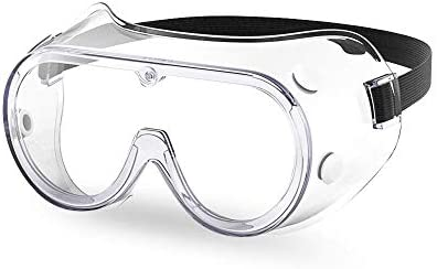 The Essential Goods Protective Safety Goggles Anti fog Scratch Resistance Wide Vision Clear product image