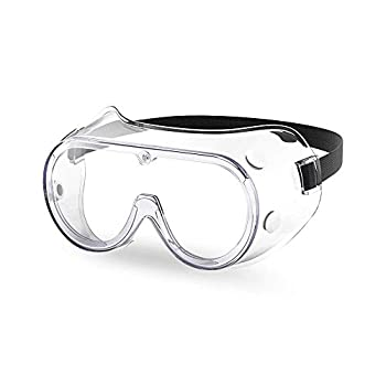 The Essential Goods Protective Safety Goggles   Anti-fog Scratch Resistance   Wide Vision Clear Lens   Goggles For Safety   Medical Goggles   Lab Goggles  Chemistry Goggles