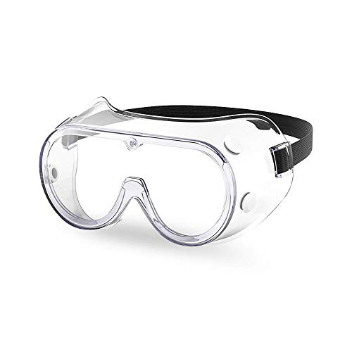 The Essential Goods Protective Safety Goggles | Anti-fog, Scratch Resistance | Wide Vision Clear Lens | Goggles For Safety | Medical Goggles | Lab Goggles| Chemistry Goggles